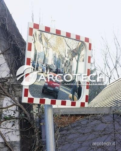 Specchio stradale per strade private e incroci stradali - Specchio parabolico stradale normativa ...