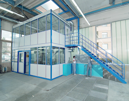 Sistema modulare per uffici shb 50 arcotech srl safety for Piani di capannone per uffici esterni