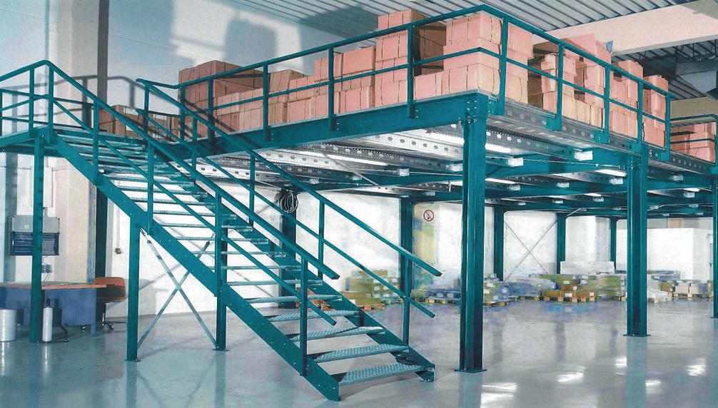 Soppalco modulare in acciaio ssb arcotech srl safety for Tettoia capannone con soppalco