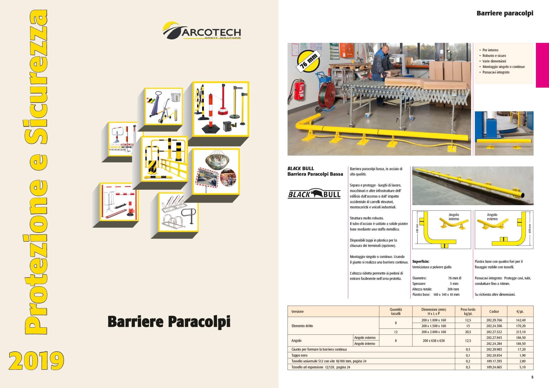 Barriere Paracolpi catalogo Arcotech 2019